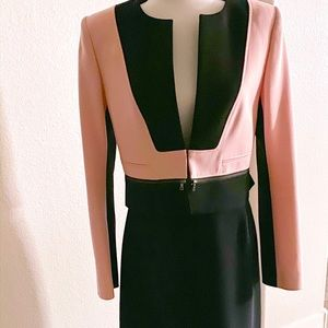BCBG SET pink and black skirt suit set